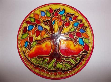 imagenes de mandalas en macrame mandalas en vidrio pintados a mano artesanales 330