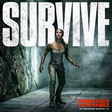 tomb raider news your source on lara croft games tomb raider lara croft must survive in new poster