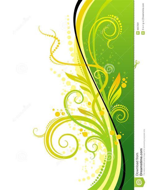 yellow green design stock image image 3657691