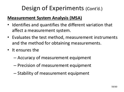 design of experiment quality improvement quality improvement systems
