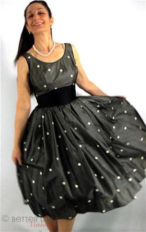 Black White Dress Sm 776118 vintage 50s black and white polka dot dress cupcake prom sm better dresses vintage