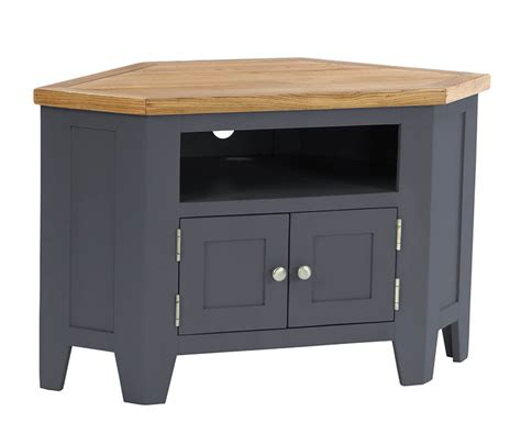 Grey Tv Cabinet by Pitchford Grey Corner Tv Cabinet Stand Oak World