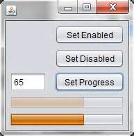 progress bar in swing possible to disable a progress bar in swing