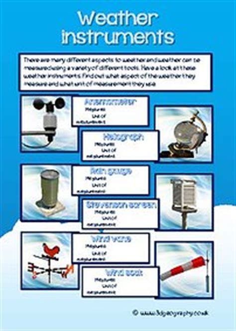 Weather Tools Worksheet by Weather Instruments Worksheets Photos Getadating