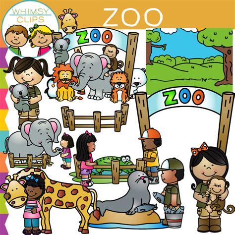 zoo clip art bundle image illustrations