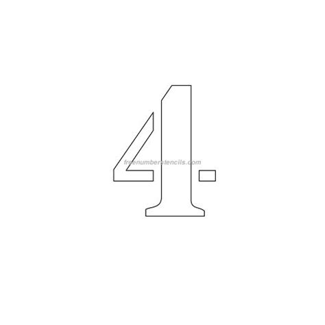 printable number stencils 4 inch free 4 inch 4 number stencil freenumberstencils com