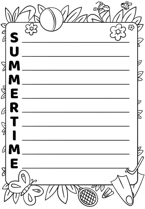 Summertime Acrostic Poem Template Free Printable Papercraft Templates Acrostic Poem Template