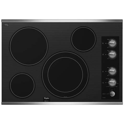 stainless steel cooktop electric whirlpool gold 30 in radiant electric cooktop in