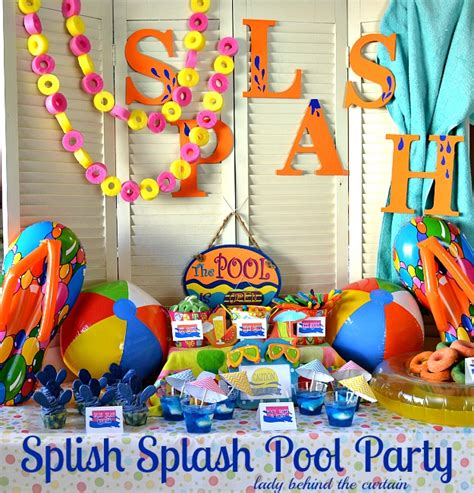 Sew On Curtain Rings Splish Splash Pool Party