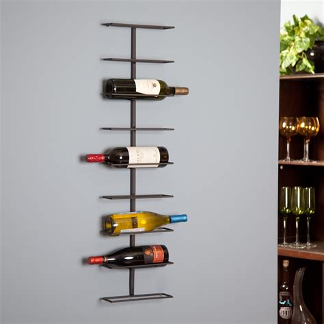 furniture wall mount wine rack with oenophilia wine ledge
