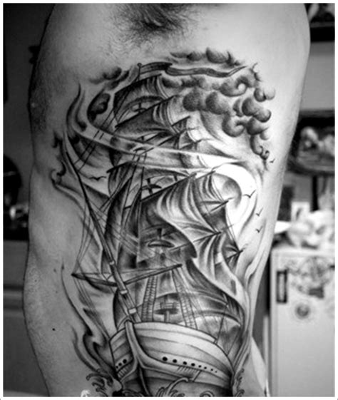 35 regal ship based tattoo designs