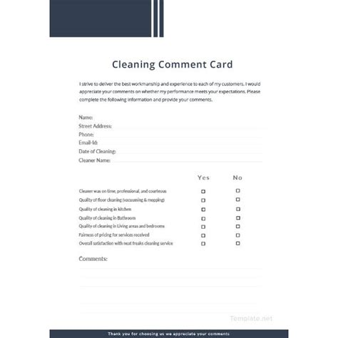 Free Comment Card Template by 18 Comment Card Templates Psd Ai Eps Free Premium