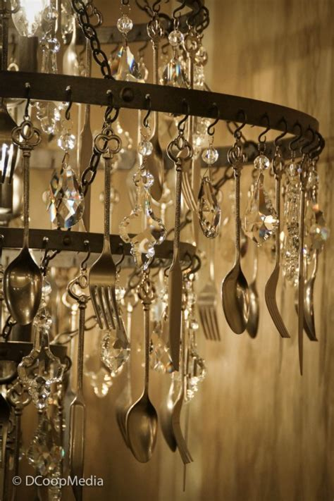 silverware chandelier interesting ways to upcycle cutlery
