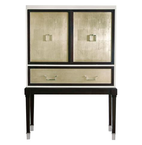 Espresso Bar Cabinet Regency Espresso Chagne Leaf Bar Cabinet Kathy Kuo Home