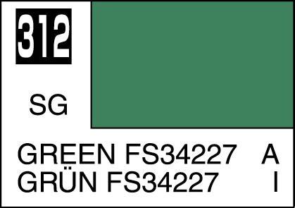 mr color paint green fs34227 10ml c312 gsi c 312 gunze sangyo mr hobby