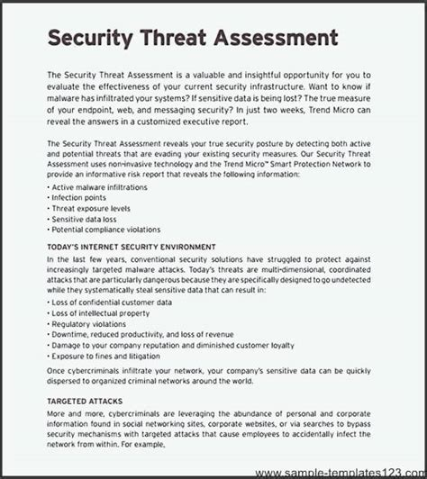 network security assessment template sle templates