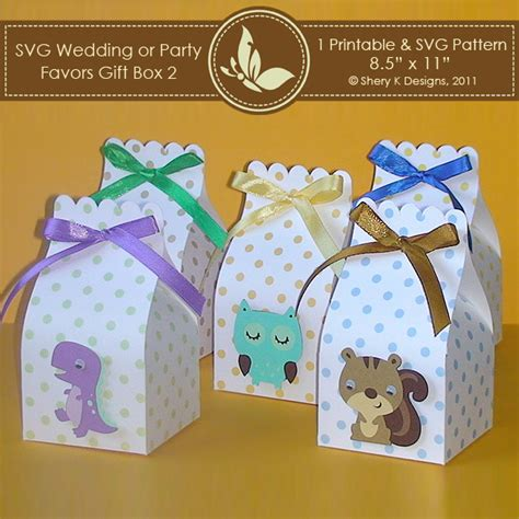 templates boxes for favors gifts svg printable favors gift box 2 shery k designs