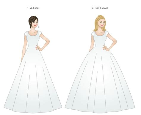 different shapes of wedding dresses mormon wedding lds wedding planner page 9