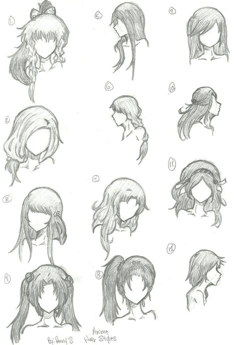 hair template anime drawing template wallpaper