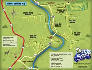 concan map frio country resort maps friocountry