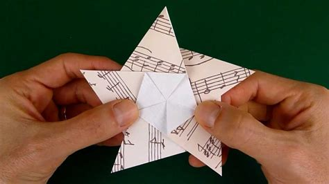 How To Make A 5 Point Out Of Paper - folding a 5 pointed origami