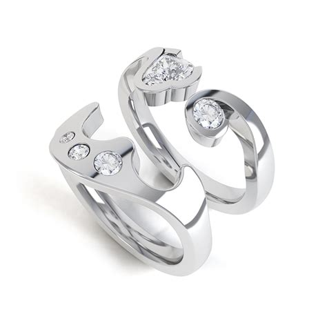 Wedding Ring Design Software by Interlocking Rings Getting A Fit By Cad