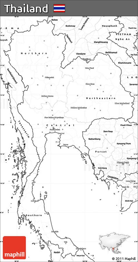 printable map thailand free blank simple map of thailand
