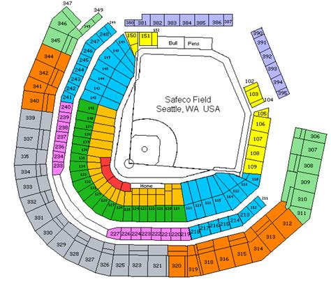 seattle mariners map seattle mariners seating chart pictures and images