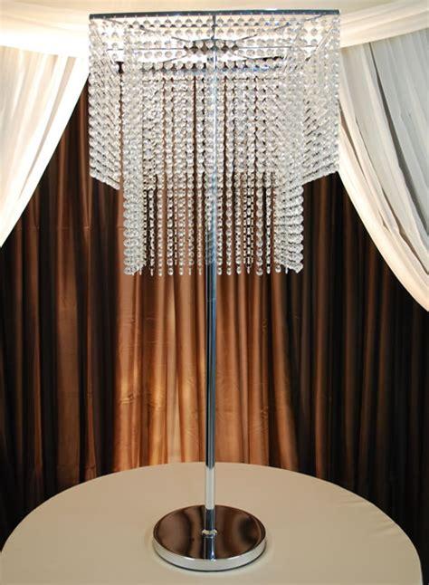 2 tier square chandelier centerpiece 49