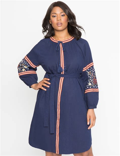 Sleeve Embroidered Shirt embroidered sleeve shirt dress s plus size dresses