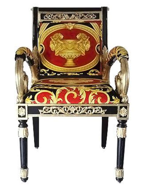 versace sofas for sale vanitas custom armchair covered in versace red double lion