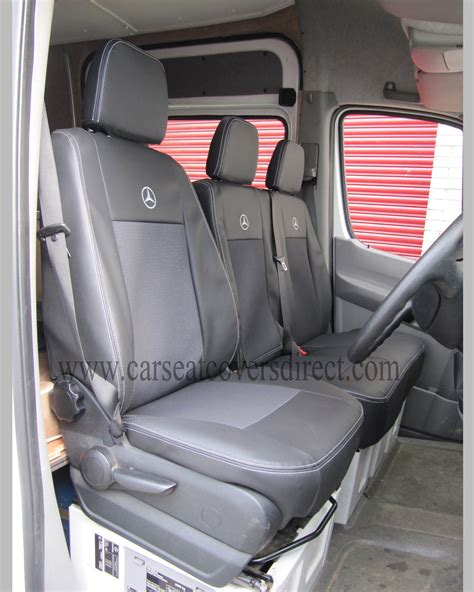 mercedes sprinter car seat covers mercedes sprinter seat covers black with cloth centre