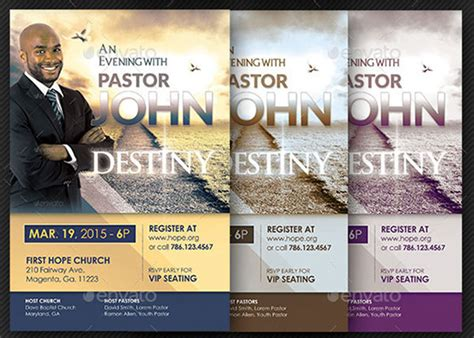 church conference flyer template on behance