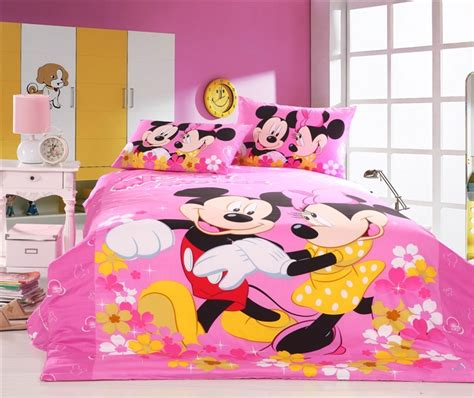 Minnie And Mickey Mouse Bedding Set Pink Mickey Mouse And Minnie Mouse Bedding