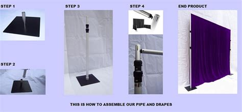 circular pipe and drape telescopic portable circular pipe drape system set for