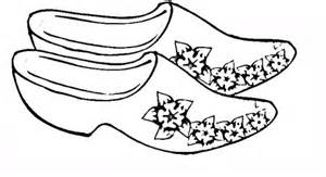 wooden shoes coloring page free printable coloring pages
