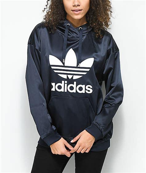 Jaket Adidas Black Ink shoptagr adidas trefoil blue ink hoodie by adidas