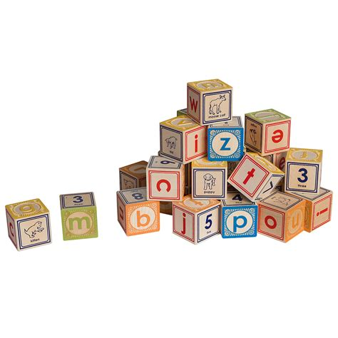 Wooden Letters Home Decor by Lowercase Alphabet Blocks Classic Embossed Wooden Abc