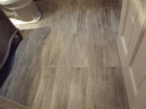 wood look porcelain tile bathroom contemporary with