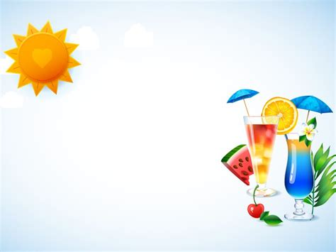 free powerpoint templates food and beverage cocktail glasses powerpoint templates food drink