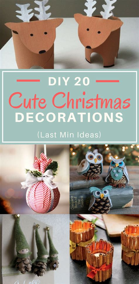 cute printable christmas decorations diy 20 cute christmas decorations quick last min ideas