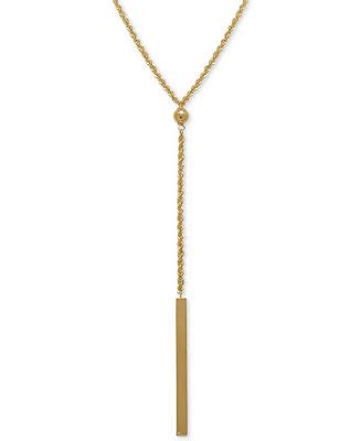 Bar Lariat Necklace rope bar lariat necklace in 14k gold necklaces jewelry