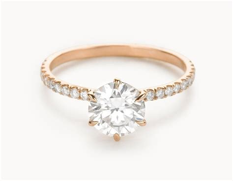 minimal 18k gold solitaire brilliant pave band