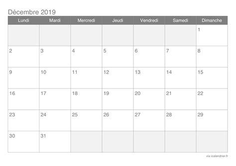 Calendrier 2019 Belgique Calendrier D 233 Cembre 2019 224 Imprimer Icalendrier