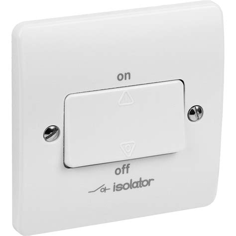 mk fan isolator switch three pole with padlock toolstation