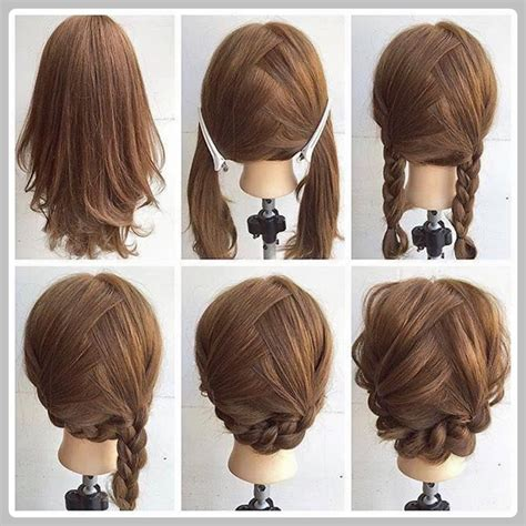 pictures of step haircuts easy and simple step by step hairstyles for medium hairs