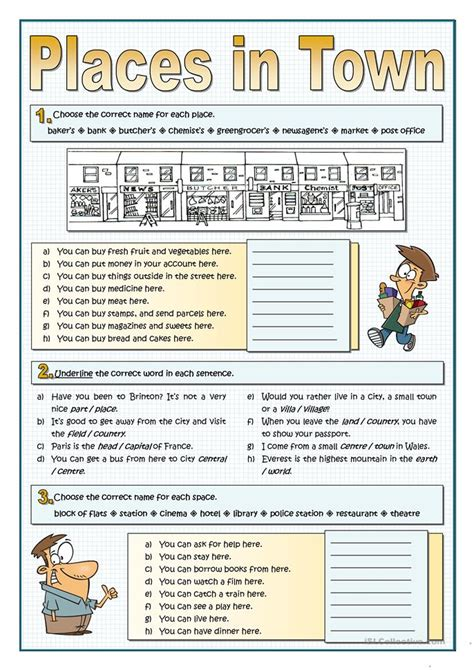 shops in my town worksheet free esl printable worksheets number names worksheets 187 places at school worksheet