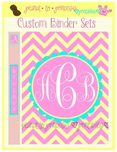 printable binder covers monogram custom chevron monogram binder set 1 printable cover