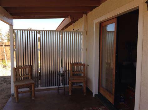 patio wind barrier diy corrugated privacy screen and wind originator