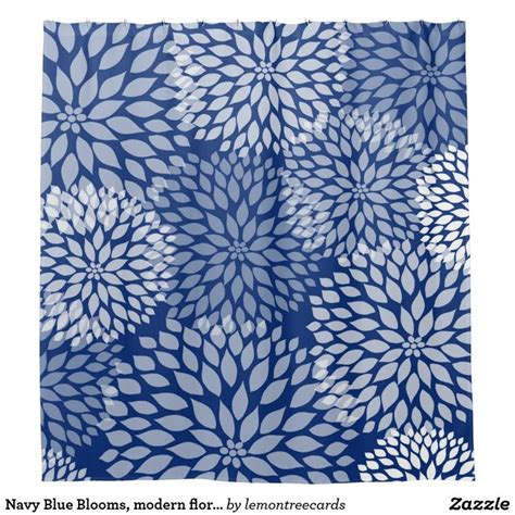 navy floral curtains 25 best ideas about navy blue shower curtain on pinterest